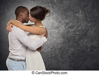 Young couple deeply in love