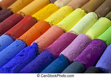 pastel, carboncillos, Extracto