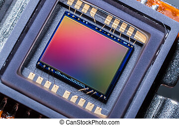 Digital camera sensor - Macro of a digital camera photo...