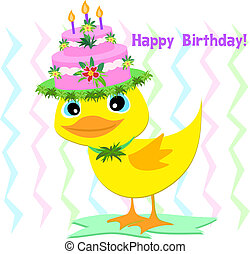 Happy Birthday Hat on a Duck