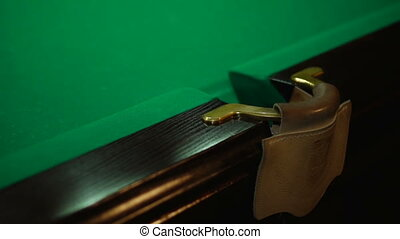Trying to get into the pocket - Russian billiards, board...