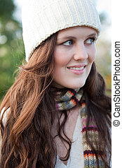 Beautiful teenager outdoor - A portrait of a beautiful...