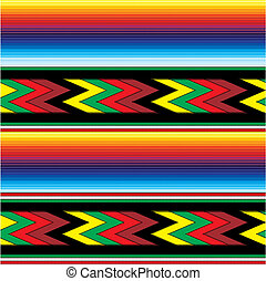 seamless mexican fabric pattern