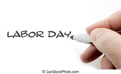 Labor Day Handwriting concept