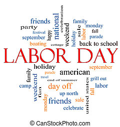 Labor Day Cloud Concept - Labor Day Word Cloud Concept with...