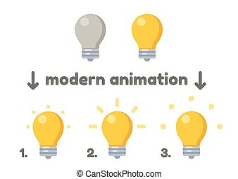 Lightbulb icon with animation