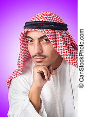 Young arab isolated on the white