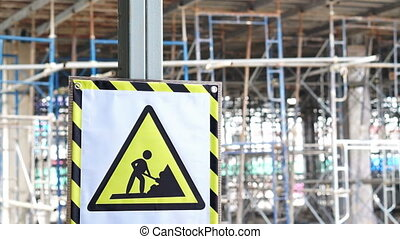construction danger sign building - Video A caution...