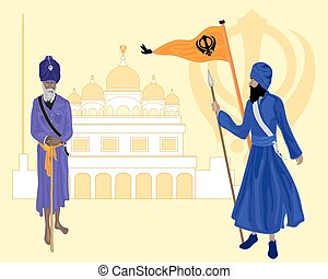sikh heritage - a vector illustration in eps 10 format of...