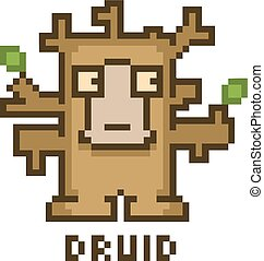 Pixel druid for 8-bit video games and design