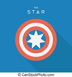Star in the circle, vector sign, emblem logo
