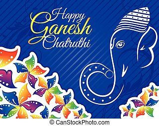 abstract colorful ganesh chaturthi background.eps