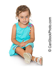 Adorable little fashion girl with beautiful hair - Pretty...