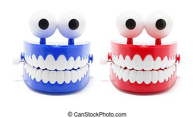 tagarelar, dentes