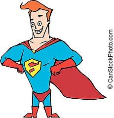 super hero cartoon