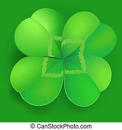shamrock, trefoil or clover leaf irish symbol - green...