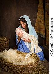 natividad, Virgen, navidad, maría