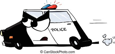 Police Car cartoon character