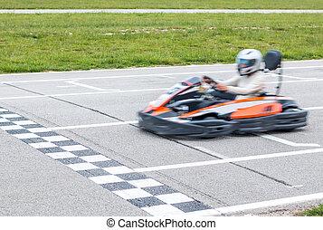 The winner of the karting race