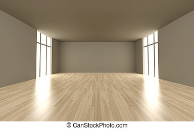 Empty room - 3D rendered Illustration