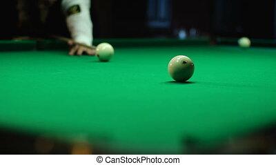 Attempts aimed into the pocket - Russian billiards, board...