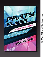 Live music event, party design with place for text