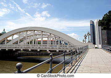 Singapore River and Elgin Bridge Singapore - Elgin bridge...