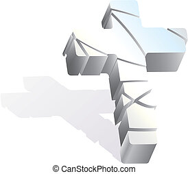 3d cross vector illustration isolated