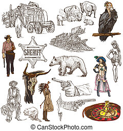 Indians and Wild West - An hand drawn pack - INDIANS and...