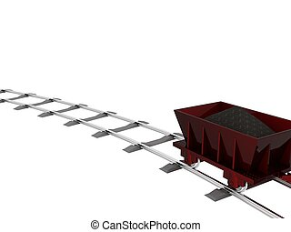 Trolley with coal 3D Object Series