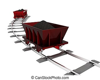 Trolley with coal [3D Object Series]
