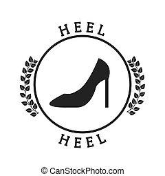 heel pictogram