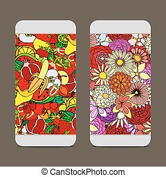 Fruit and Flower Pattern - Mobile phone cover back for your...