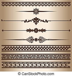 Decorative lines - Design elements - decorative line...