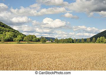 Romantic landscape Franconia - Image of romantic landscape...