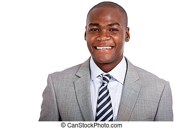 young afro american business man close up