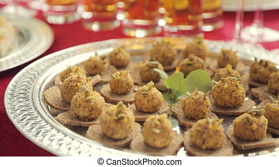Snack on the rusks on a banquet in catering - Snack on the...
