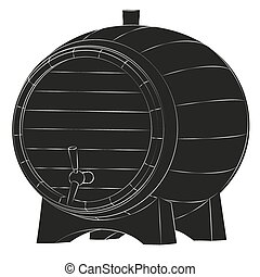 Beer barrel silhouette