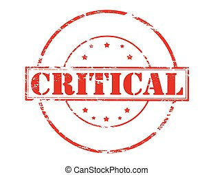 Critical - Rubber stamp with word critical inside, vector...
