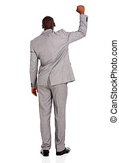 back view of african businessman
