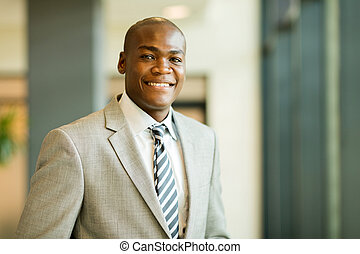 young african american businessman closeup portrait -...