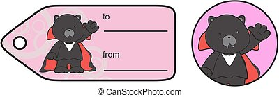 panther dracula cartoongiftcard - cute panther dracula...