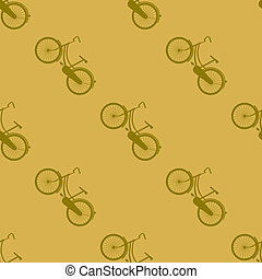 Bicycle pattern - Bicycle seamless pattern. Illustration...