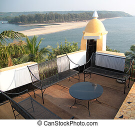 Goa - View of beach from fort in Goa