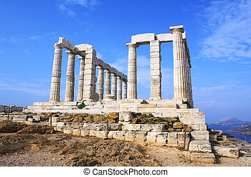 Temple of Poseidon - Remains of Temple of Poseidon, god of...