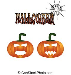 Pumpkin for Halloween symbol illustration