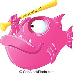 piranha cartoon character