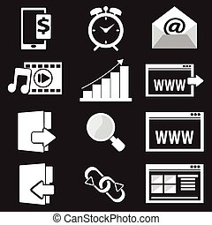 Website Icon set vector illustration