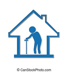 Nursing home symbol, illustration - Nursing home symbol,...