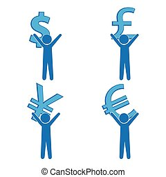 Man carrying with a money sign